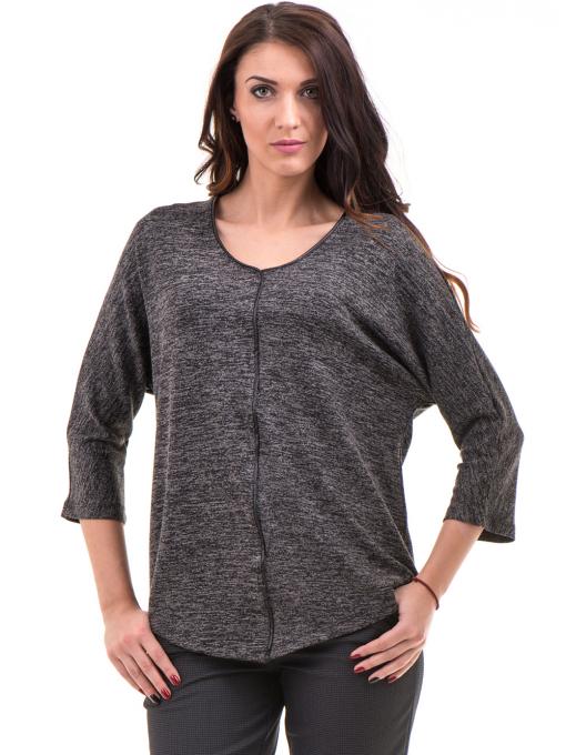 Дамска блуза свободен модел STAMINA 206 - цвят антрацит