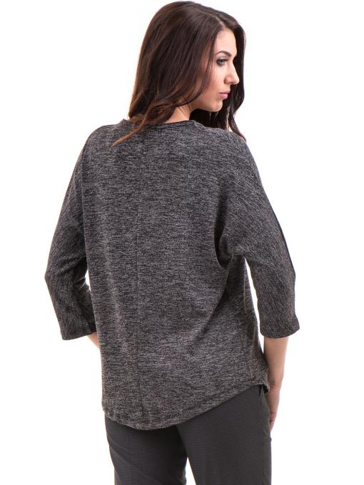 Дамска блуза свободен модел STAMINA 206 - цвят антрацит B