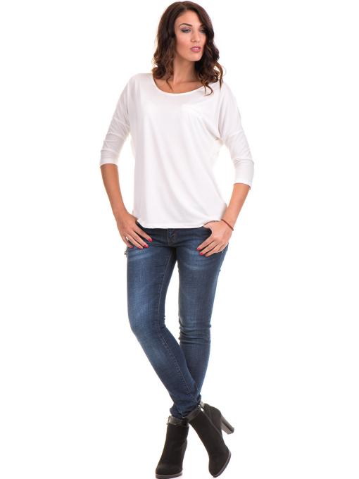 Дамска блуза  свободен модел STAMINA 211 - цвят екрю C
