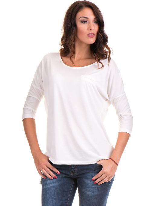 Дамска блуза  свободен модел STAMINA 211 - цвят екрю