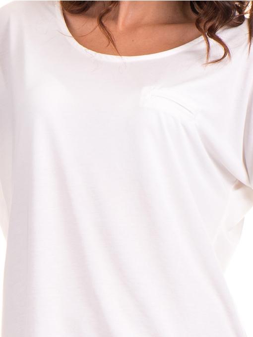 Дамска блуза  свободен модел STAMINA 211 - цвят екрю D
