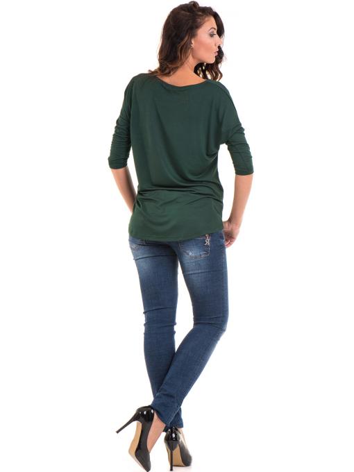 Дамска блуза свободен модел STAMINA 211 - цвят каки E