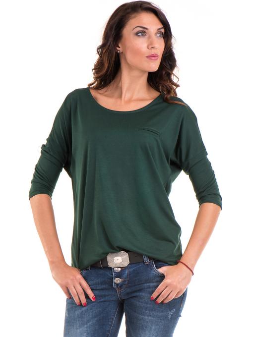 Дамска блуза свободен модел STAMINA 211 - цвят каки