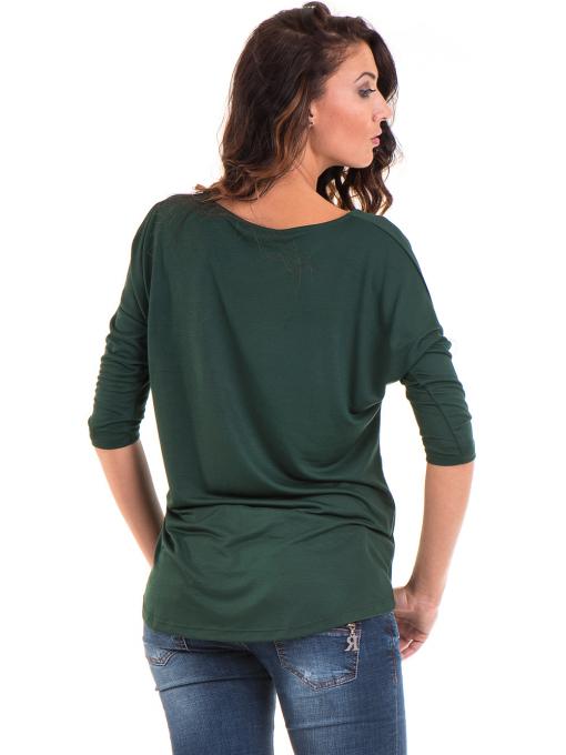 Дамска блуза свободен модел STAMINA 211 - цвят каки B