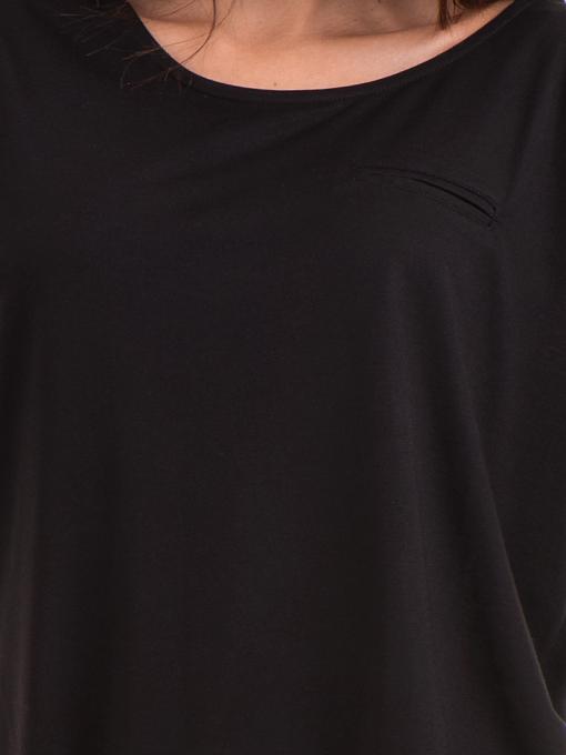 Дамска блуза свободен модел STAMINA 211 - черна D