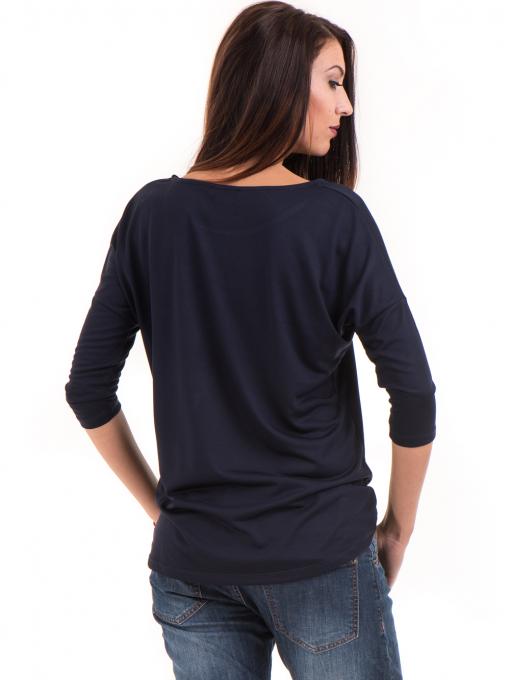 Дамска блуза свободен модел STAMINA 211 - тъмно синя B