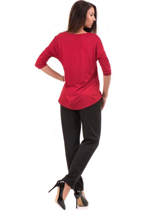 Дамска блуза свободен модел STAMINA 211 - червена E