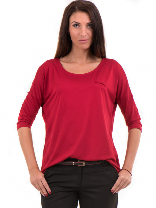 Дамска блуза свободен модел STAMINA 211 - червена
