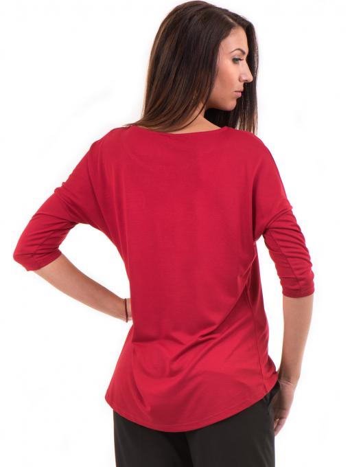 Дамска блуза свободен модел STAMINA 211 - червена B