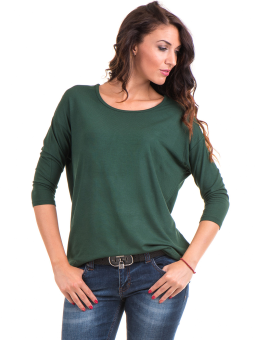 Дамска блуза с обло деколте STAMINA 239 - каки