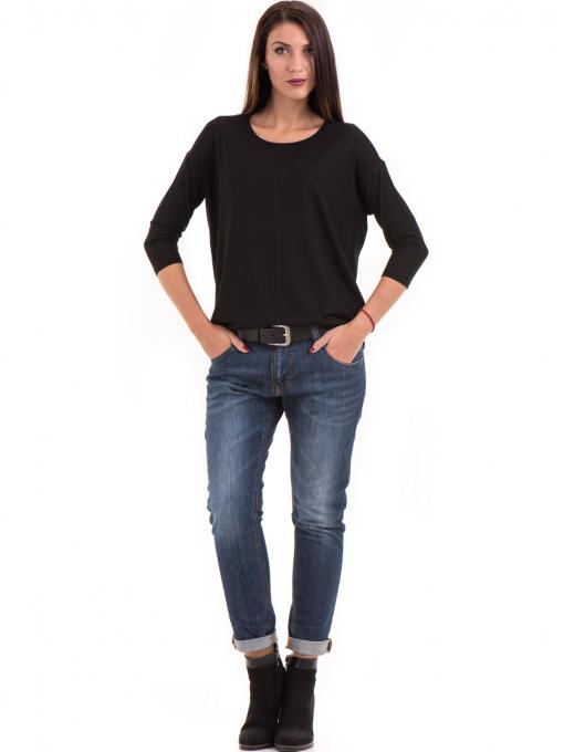 Дамска блуза с обло деколте STAMINA 239 - черна C