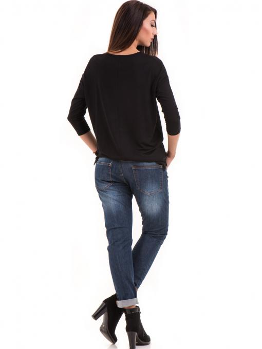 Дамска блуза с обло деколте STAMINA 239 - черна E