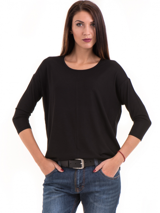 Дамска блуза с обло деколте STAMINA 239 - черна