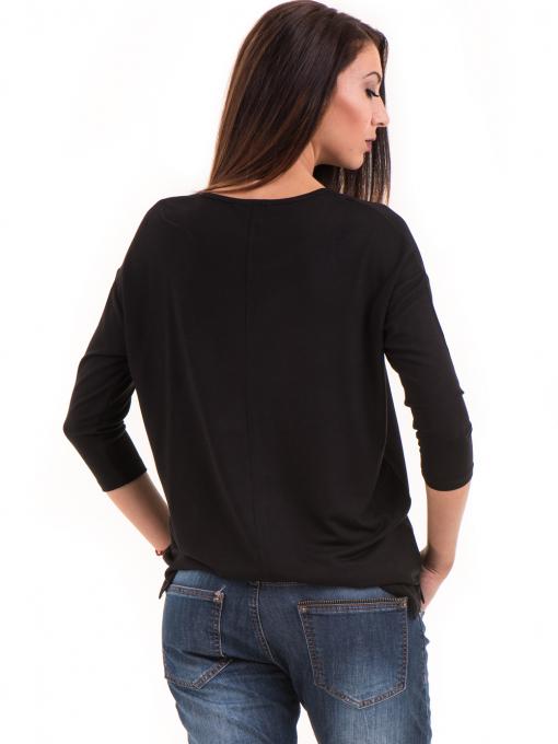 Дамска блуза с обло деколте STAMINA 239 - черна B