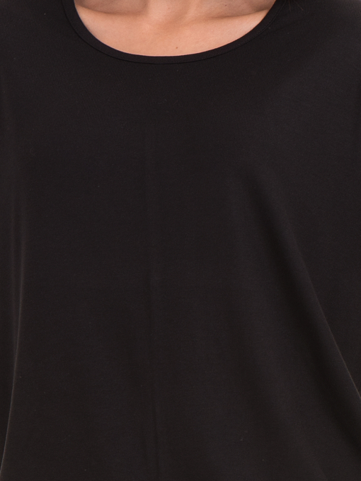 Дамска блуза с обло деколте STAMINA 239 - черна D