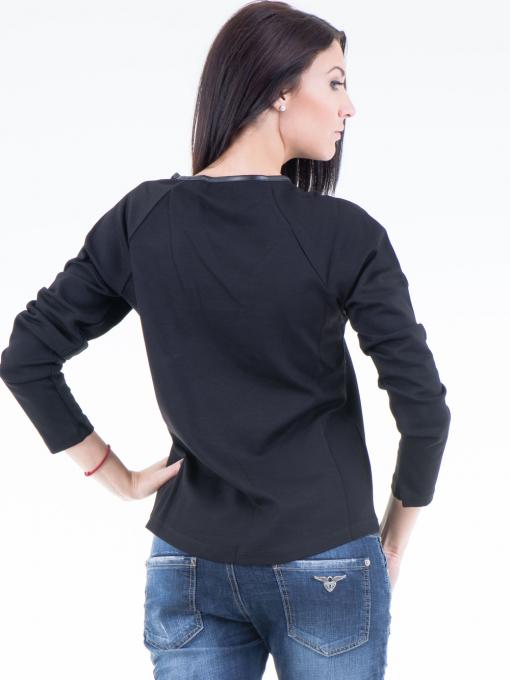 Дамска блуза  с щампа VIGOSS 40574 - черна B