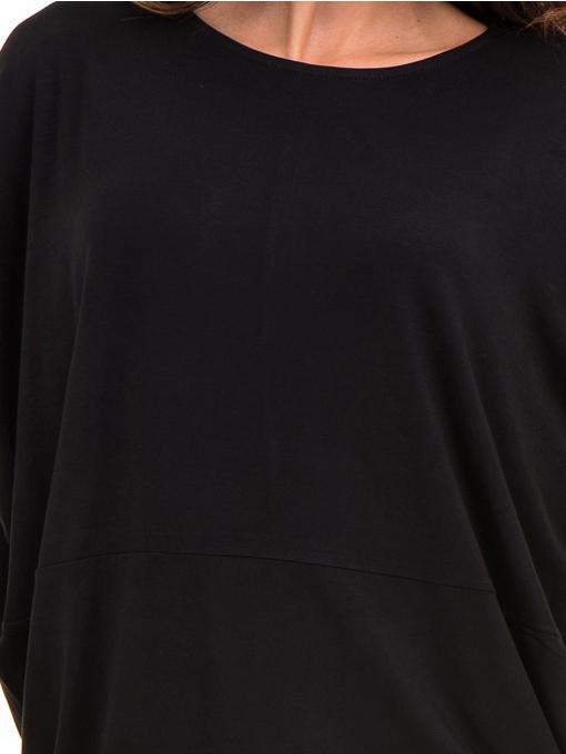 Дамска блуза с паднал ръкав XINT 088 - черна D