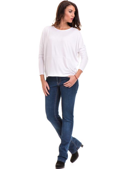 Дамска блуза с паднал ръкав XINT 088 - бяла C