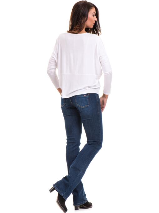 Дамска блуза с паднал ръкав XINT 088 - бяла E