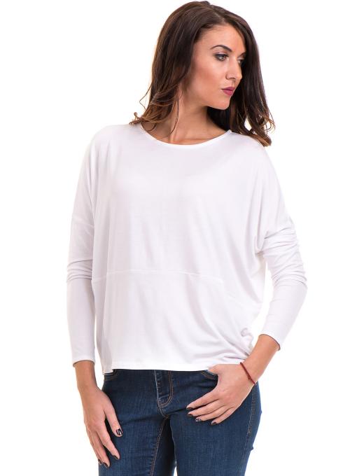Дамска блуза с паднал ръкав XINT 088 - бяла