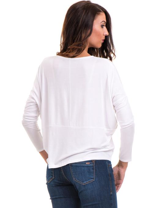 Дамска блуза с паднал ръкав XINT 088 - бяла B