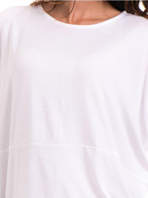 Дамска блуза с паднал ръкав XINT 088 - бяла D