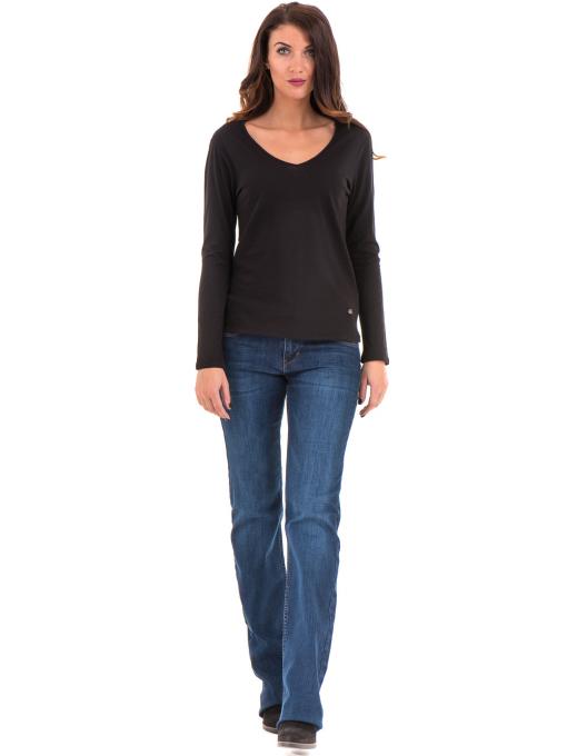 Дамска блуза с V-образно деколте XINT 090 - черна C