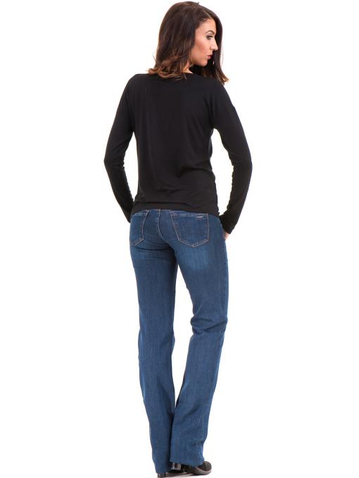Дамска блуза с V-образно деколте XINT 090 - черна E