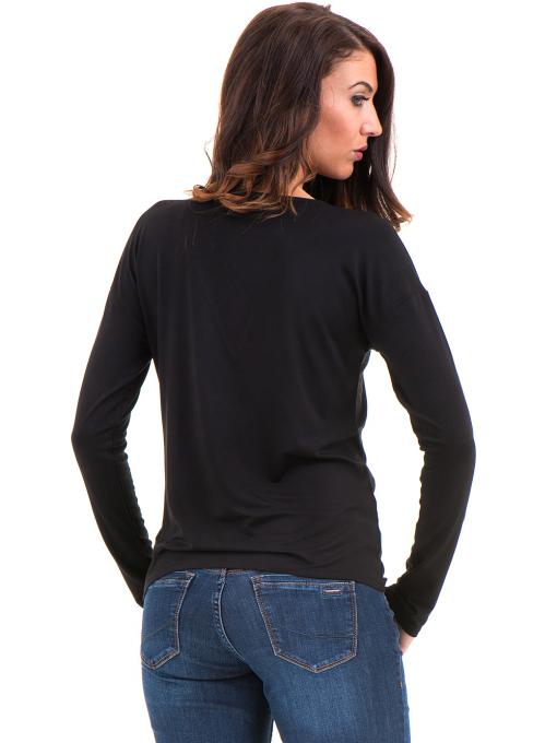 Дамска блуза с V-образно деколте XINT 090 - черна B