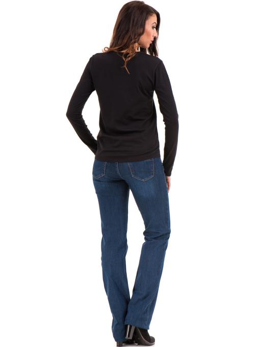 Дамска блуза с овално деколте XINT 092 - черна E