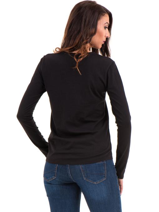 Дамска блуза с овално деколте XINT 092 - черна B