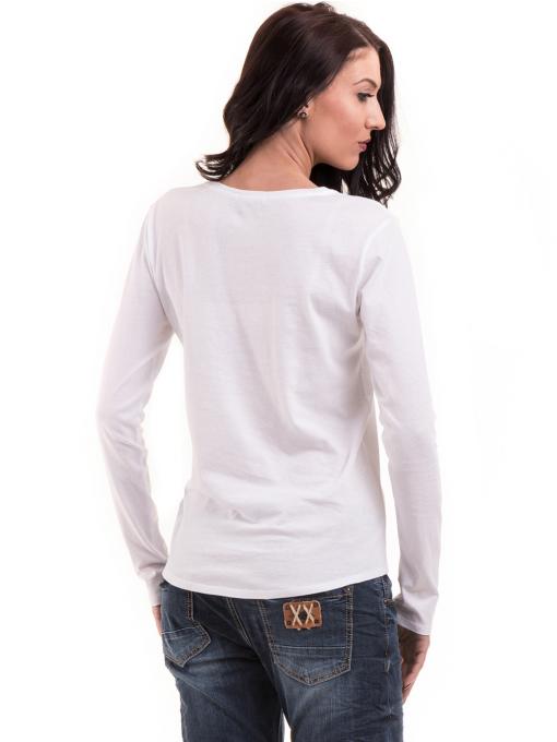 Дамска блуза с овално деколте XINT 092 - бяла B