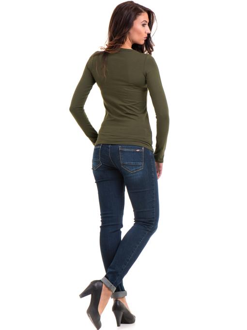 Дамска вталена блуза XINT 093 - цвят каки E