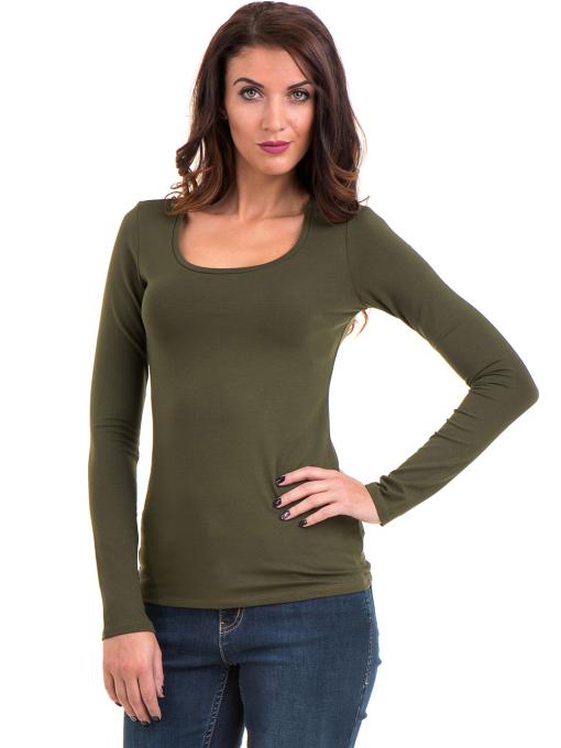 Дамска вталена блуза XINT 093 - цвят каки