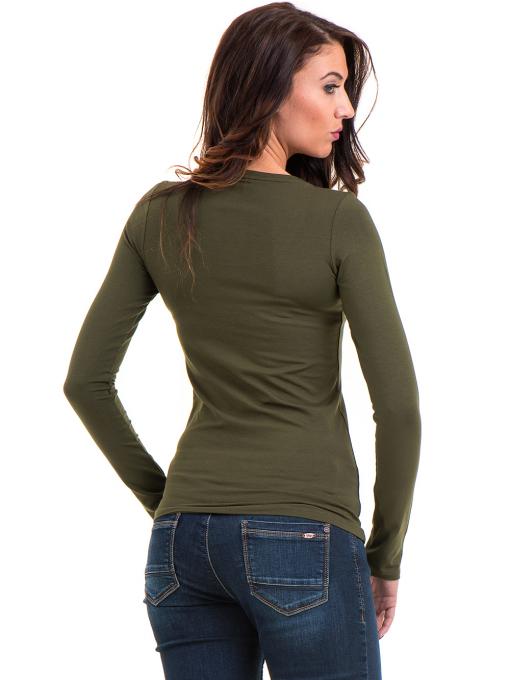 Дамска вталена блуза XINT 093 - цвят каки B
