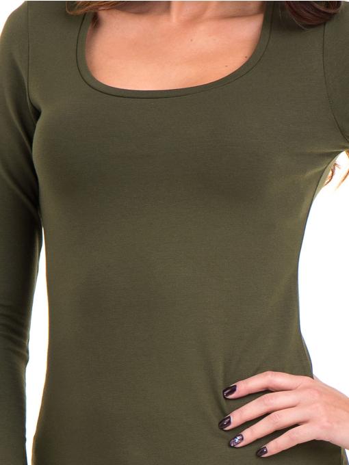 Дамска вталена блуза XINT 093 - цвят каки D