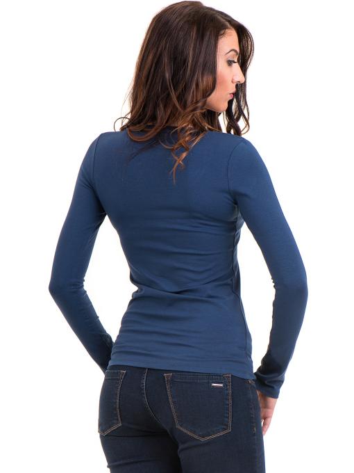 Дамска вталена блуза XINT 093 - синя B