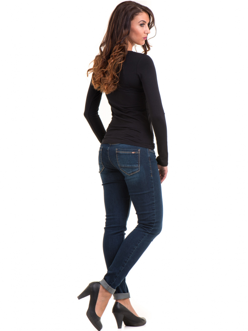 Дамска блуза вталена XINT 093 - черна E