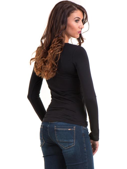 Дамска блуза вталена XINT 093 - черна B