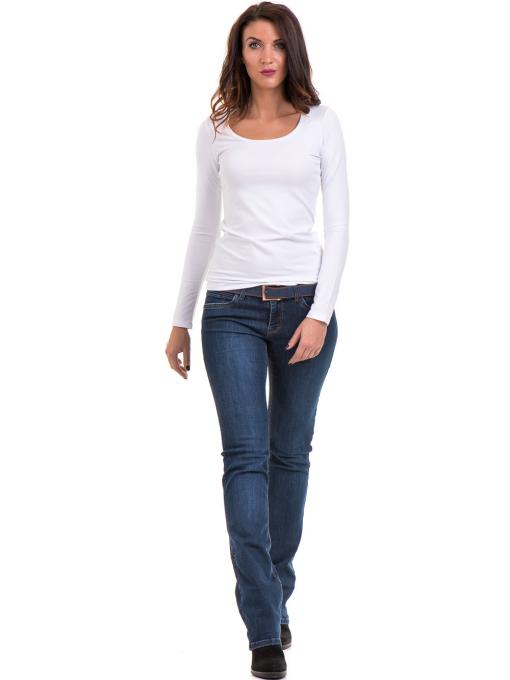 Дамска вталена блуза XINT 093- бяла C