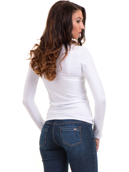 Дамска вталена блуза XINT 093- бяла B