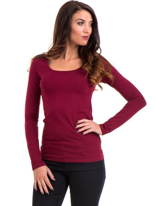 Дамска вталена блуза XINT 093 - цвят бордо