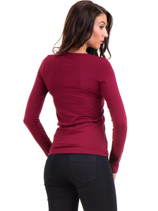 Дамска вталена блуза XINT 093 - цвят бордо B