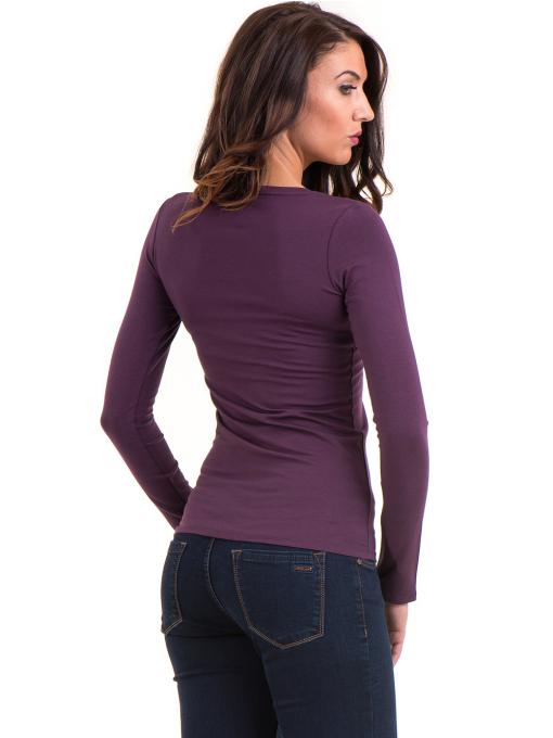 Дамска вталена блуза XINT 093 - тъмно лилава B