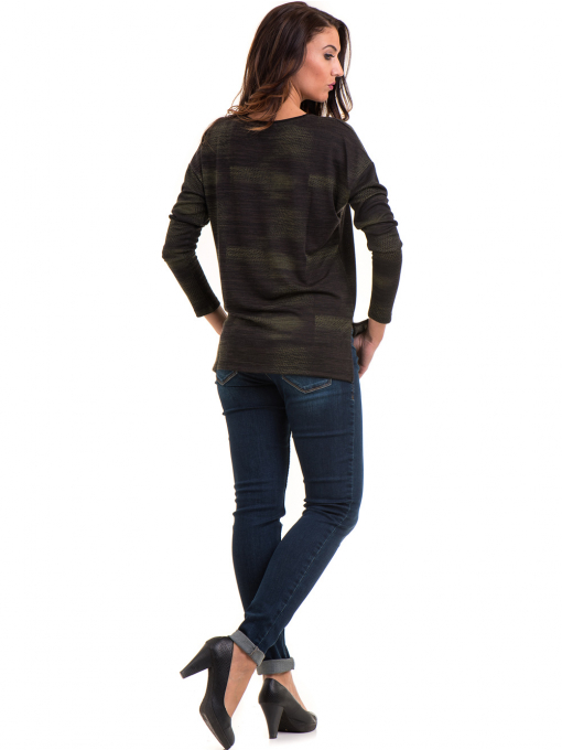 Дамска блуза свободен модел XINT 096 - цвят каки E
