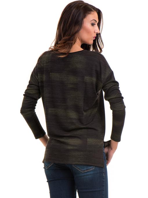 Дамска блуза свободен модел XINT 096 - цвят каки B