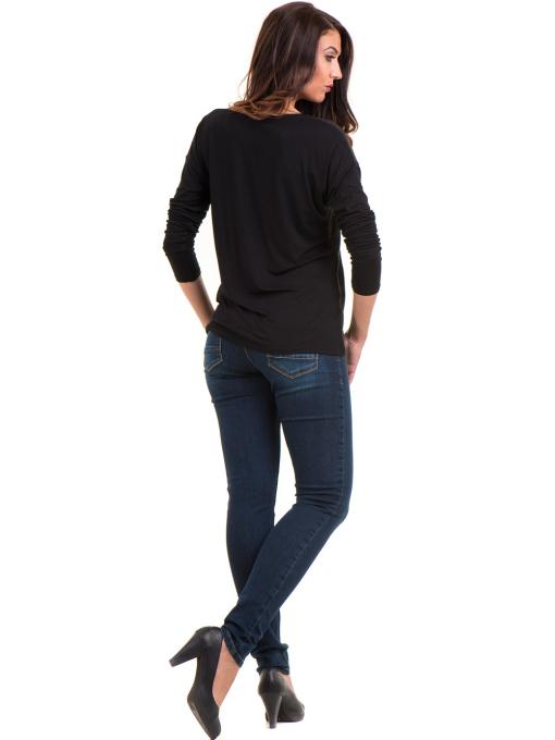 Дамска блуза с V-образно деколте XINT 099 - цвят каки E