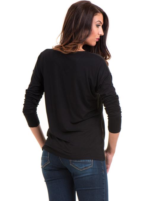 Дамска блуза с V-образно деколте XINT 099 - цвят каки B