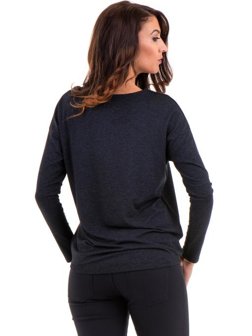 Дамска блуза с реглан ръкав XINT 1117 - тъмно синя B