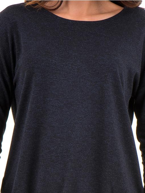 Дамска блуза с реглан ръкав XINT 1117 - тъмно синя D